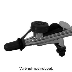 Airbrush Clean & Travel Caps - Black