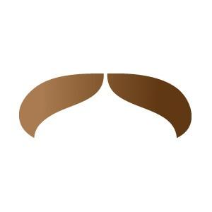 Walrus Mustache Stencil