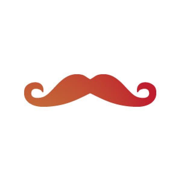 Handlebar Mustache Stencil