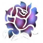 Large Rose Head - Stencil by Dinair