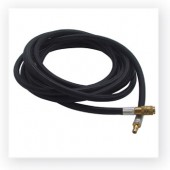 Single QC Hose 10 ft. - Braided Black - Airbrush Quick Connect Fitting