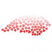 Eyebrow Hearts Stencil