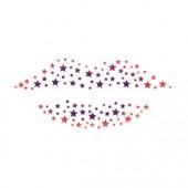 Micro Stars Lips Stencil
