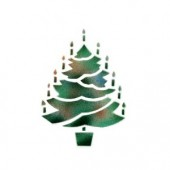 Christmas Tree - Stencil by Dinair