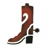 Cowboy Boot - Stencil by Dinair