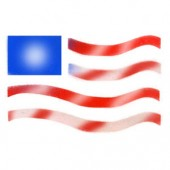 Freedom Flag - Stencil by Dinair