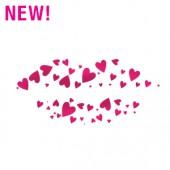 Heart Lips Stencil