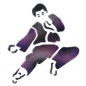 Karate Fighter - Stencil by Dinair