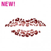 Leopard Lips Stencil