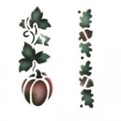 Pumpkin Acorn Leaves - Stencil by Dinair