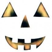 Pumpkin Mask Child - Stencil by Dinair