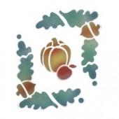 Pumpkin Vine Acorn Border - Stencil by Dinair