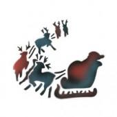 Santa and Sleigh - Stencil by Dinair