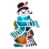Snowman - Stencil by Dinair