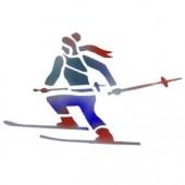 Snow Skier - Stencil by Dinair