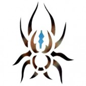 Tribal Spider - Stencil by Dinair