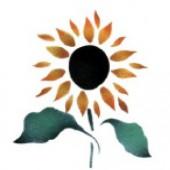 Sunflower - Stencil by Dinair