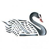 Swan - Stencil by Dinair