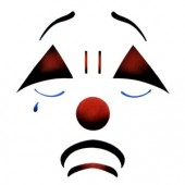Tearful Clown Adult - Stencil by Dinair