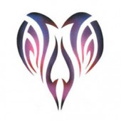 Tribal Heart - Stencil by Dinair
