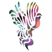 Tropical Bird - Stencil by Dinair