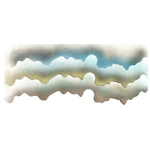 Clouds Edge Shield Stencil By Dinair