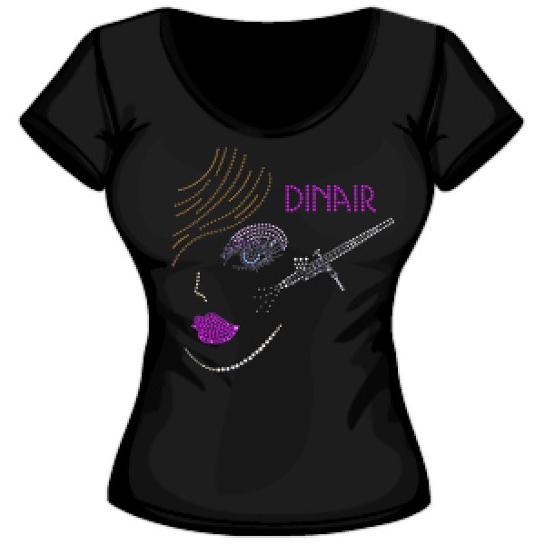 Limited Edition Dinair MUA Black Tee Shirt