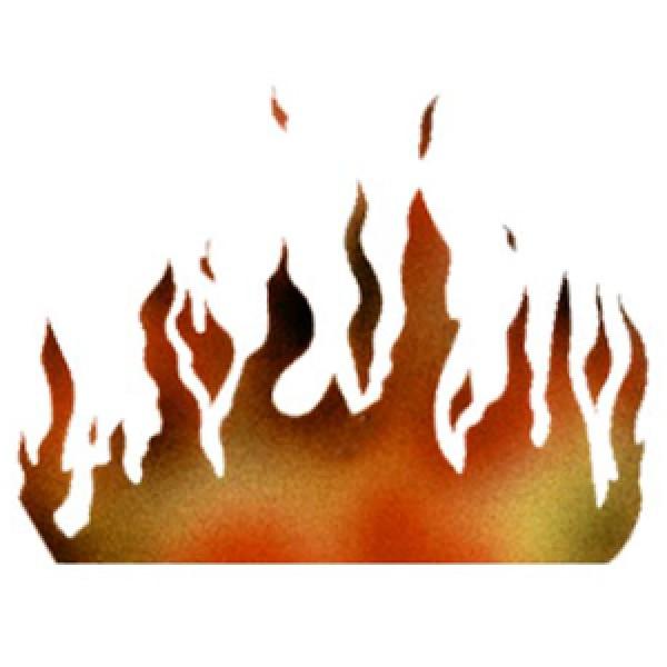 flames stencil by dinair biker stencils