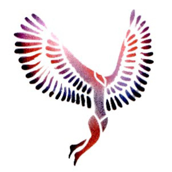 Winged Woman - Stencil by Dinair - Fantasy - Stencils