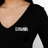 Dinair Rhinestone Pin