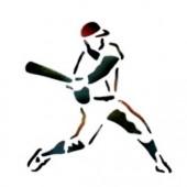 Baseball Player - Stencil by Dinair