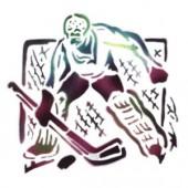 Hockey Goalie - Stencil by Dinair