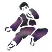 Karate Fighter - Stencil by Dinair