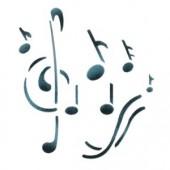 Musical Notes - Stencil by Dinair