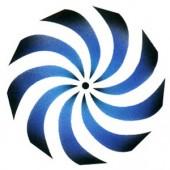 Pin Wheel - Stencil by Dinair
