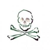 Skull and Cross Bones - Stencil by Dinair