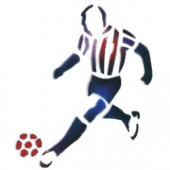 Soccer Player - Stencil by Dinair