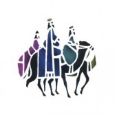 Wise Men and Camels - Stencil by Dinair